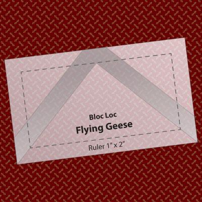 "Bloc Loc Flying Geese Ruler 1"" x 2"""