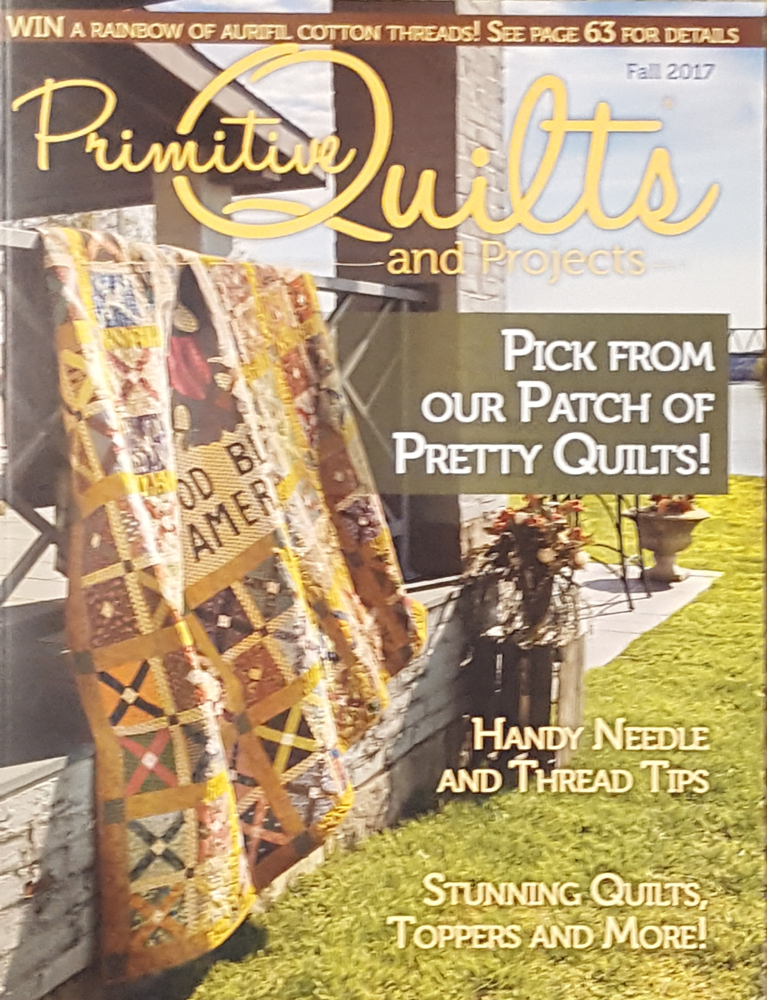 Primitive Quilts & Projects Magazine Fall 2017 | Yellow Creek ... : primitive quilts and projects magazine - Adamdwight.com